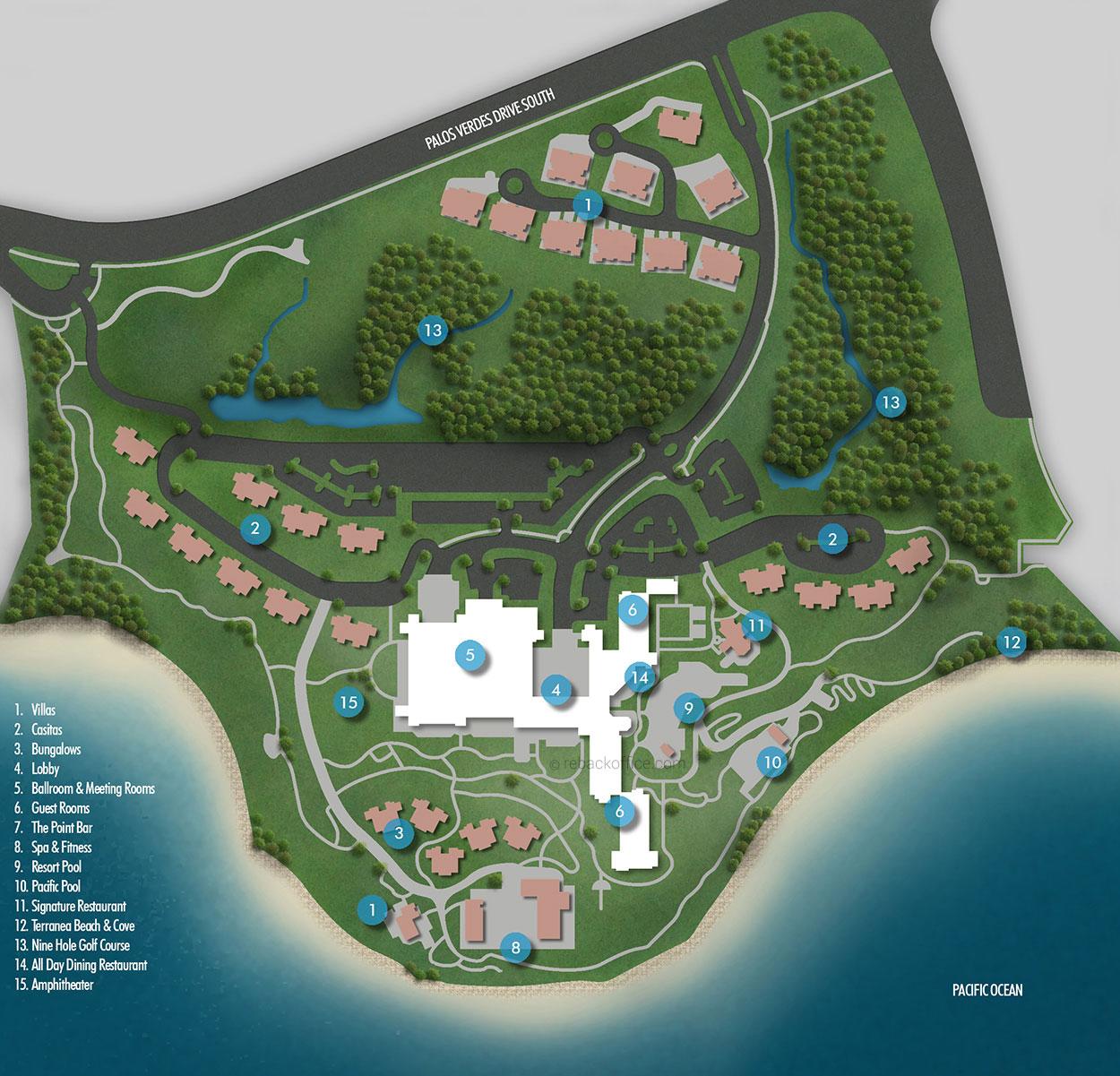 Example Site Plan Map: 2D Site Plan Large Detailed 05: Rebackoffice
