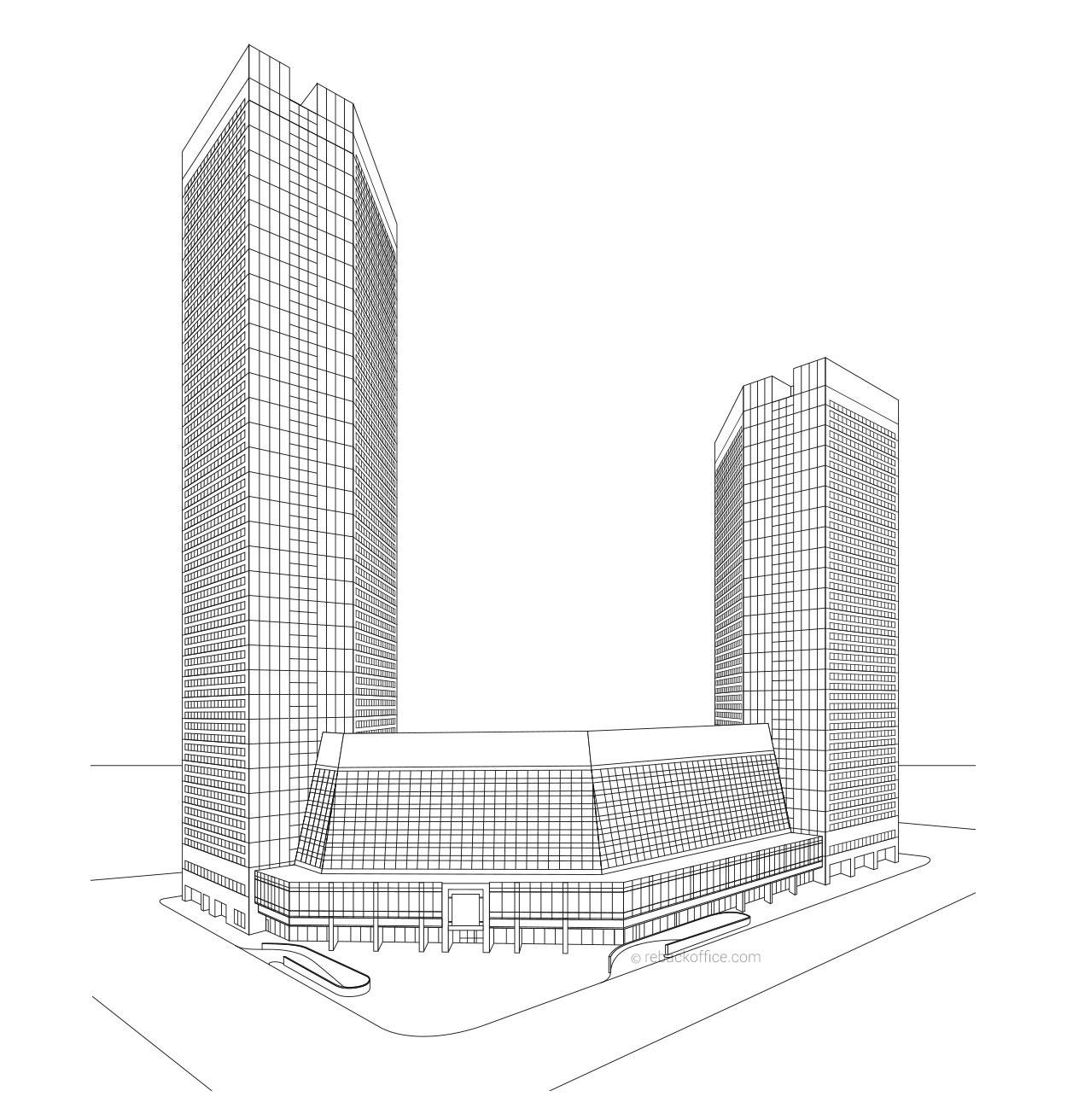 Line Art Building : Building line art renderings example rebackoffice