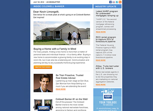 email flyers to real estate agents