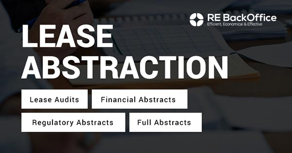 Abstraction & Lease Administration | Lease Audit Services